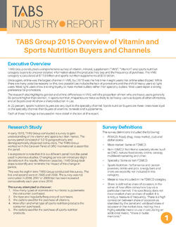 2015 Vitamin & Mineral Supplements Report