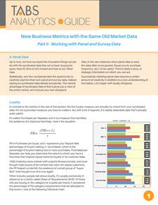 2015 New Metrics Guide - Part II