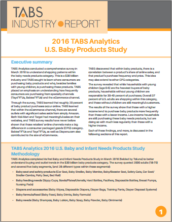 2016 Infant & Baby Needs Product Categories Report