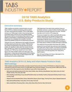2016 Baby Study Report