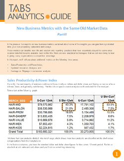 2016 New Business Metrics Guide - Part 3