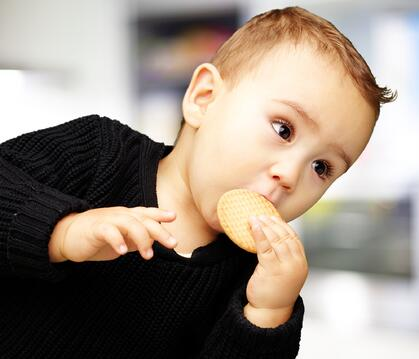 Baby Eating Cookie