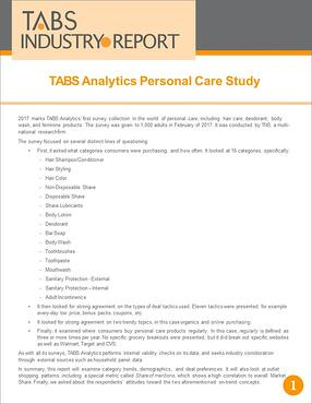 Personal Care Study