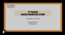 2018 Color Cosmetics Webinar
