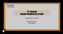 2018 Color Cosmetics Webinar