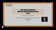 2019 New Analytics & Metrics Webinar - Part 4