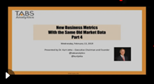 2019 New Analytics & Metrics Webinar - Part 4