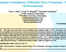 Economic Foundations of Retailer Price Promotion: It's All Incremental