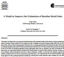 A Model to Improve the Estimation of Baseline Retail Sales