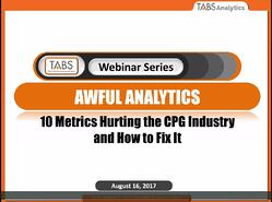 2017 Awful Analytics Webinar