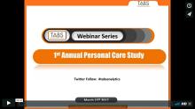 2017 1st Annual Personal Care Study Webinar