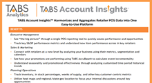 TABS Account Insights™ Product Sheet