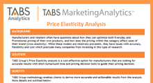 TABS Marketing Analytics™ Product Sheet